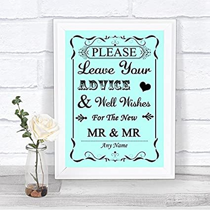 Cartel de boda personalizable con texto en inglés