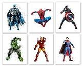 Superhero Collector Prints - Set of Six Photos (8