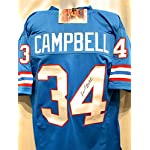 b948a635b Earl Campbell Houston Oilers Signed Autograph Blue Custom Jersey JSA  Witnessed.