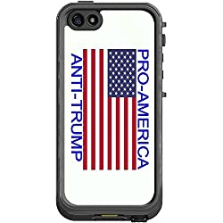 Pro America Anti Trump Quote American Flag Lifeproof Nuud iPhone 5&5s Vinyl Decal Sticker Skin
