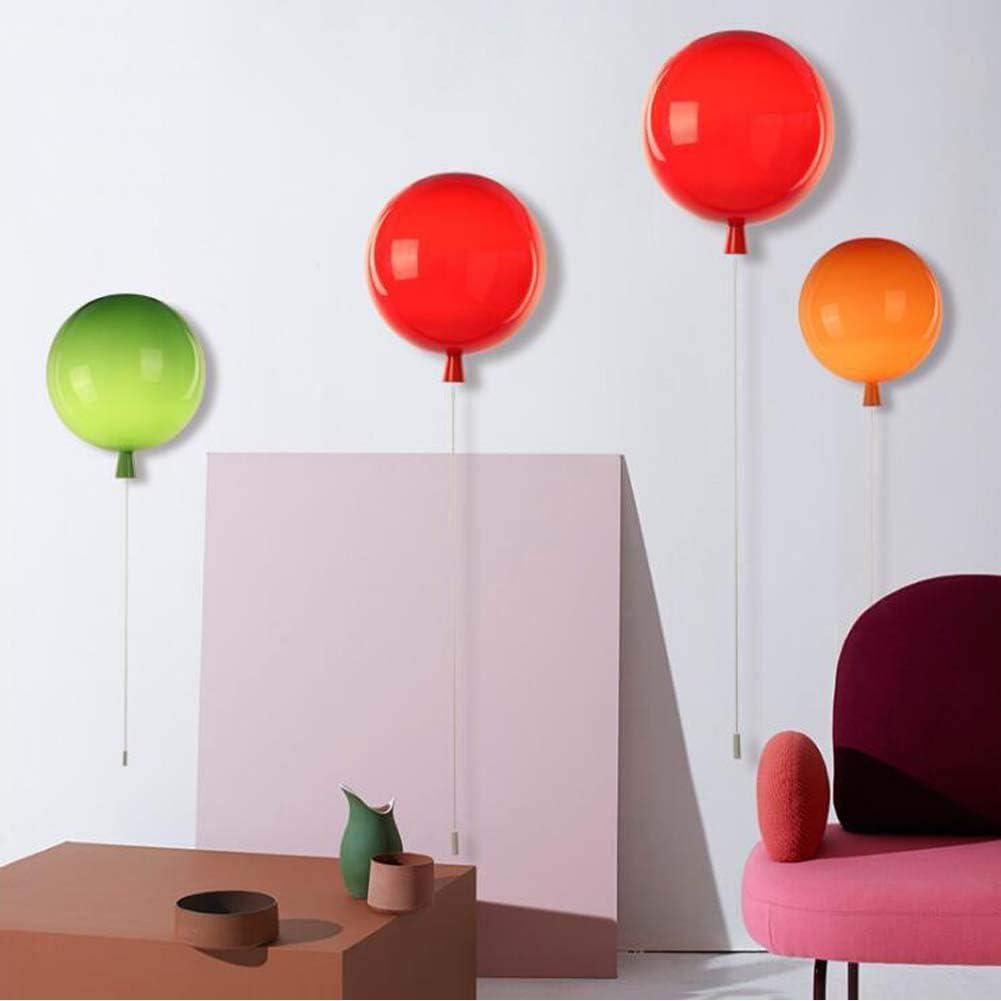 20 cm camera da letto sala da pranzo amici e bambini soggiorno bianco Lampadario a LED a forma di palloncino colorato con luce a sospensione libera galleggiante per bambini