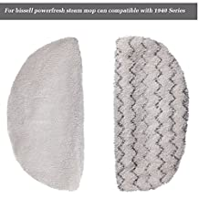 I-clean Replacement Bissell Steam Mop [2 Packs], Washable Microfiber Mop Pads for Bissell Powerfresh 1940 Series,5938