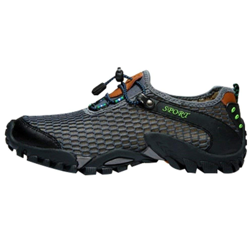 Fuxitoggo Hohe Qualität Männer Und Frauen Sommer Outdoor Sandalen Wasser Schuhe Amphibious Beach Schuhe Casual Sportschuhe Wanderschuhe Verbesserte Version (Farbe   Grau, Größe   42EU)