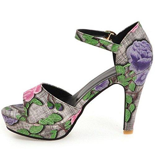 Sandalias Fiesta Tobillo Correa Pink Mujer Coolcept Heels De Moda qw44Rz