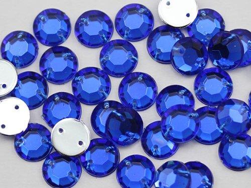 UPC 720189520464, 8mm Sew On Rhinestones Sapphire H104 - 75 Pieces