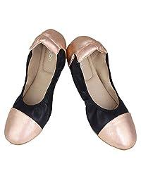 SIBBA Women's Causal Ballet Flat Snug Soft Ballerina Shoes Lace up Flats