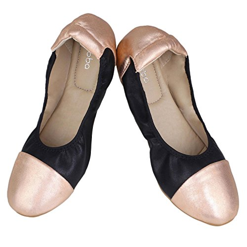 Comfort Ballerina Shoes Flats Black Slip Soft Sibba Ballet Flat on Causal Womens 1COwqF4