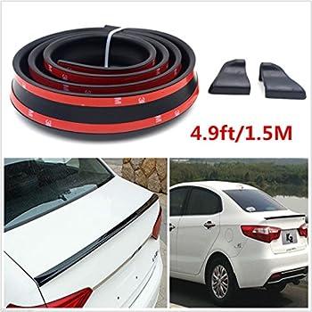 145cm//1.4m Universal Flexible PU Trunk or Roof Lip Spoiler Body Kit Trim 4.5ft
