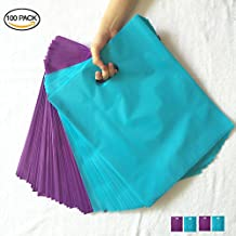 SES.CO 12x15 Purple and Blue Merchandise Bags Plastic Retail Bags (100 Pack)