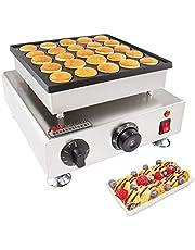 ALDKitchen Poffertjes Maker   Dutch Mini Pancakes Electric Machine   Nonstick with Adjustable Temperature Control   110 V (25 pcs Single Plate)