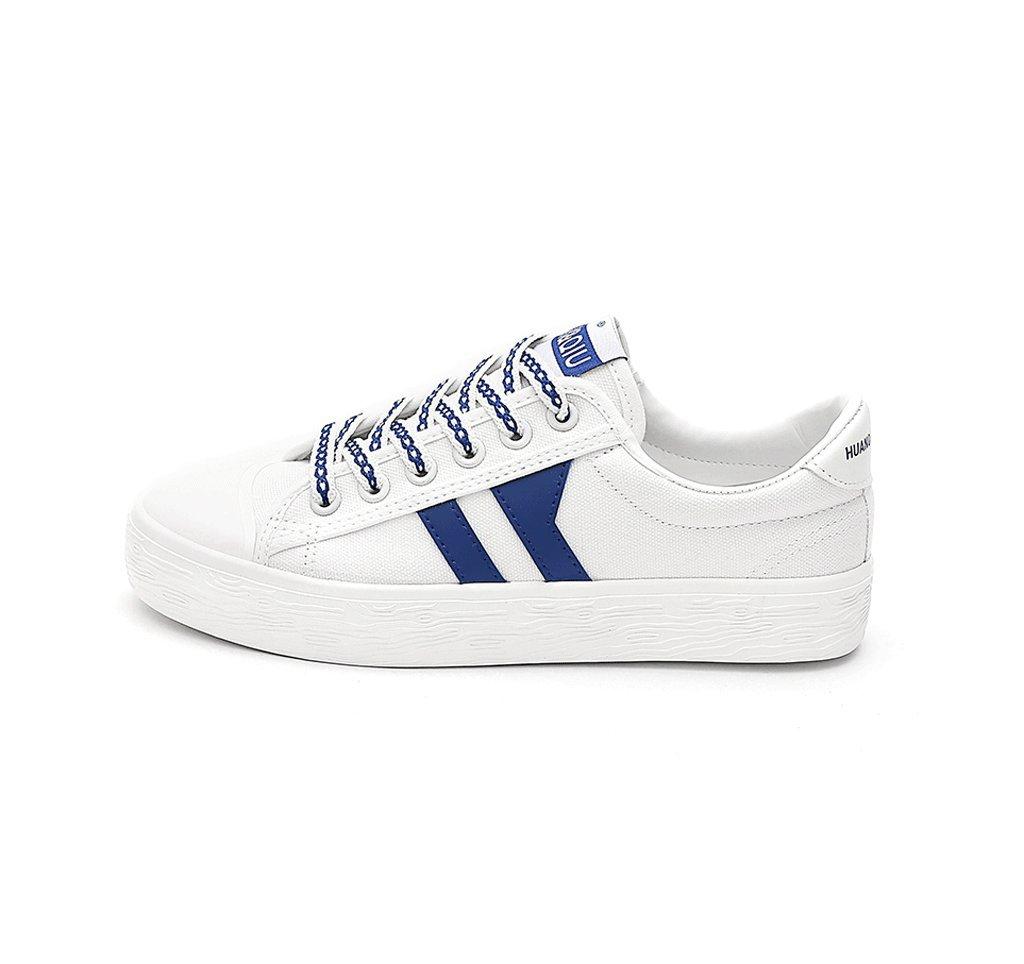 Chaussures de toile d'étudiant respirantes Chaussures plates d'été Chaussures de mode Chaussures décontractées ( Couleur : Bleu , taille : 35 )