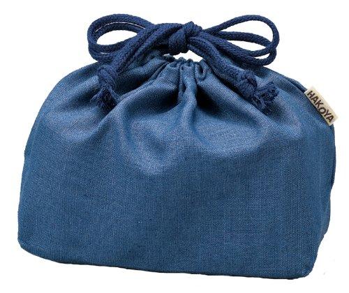HAKOYA hemp drawstring bag M Navy 53866 (japan import) by  (Image #1)