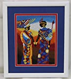 Africa theme seed bead embroidery/ home decor/ wall decor