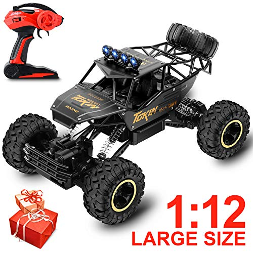 Veken Electric Remote Control Car 1: 12 Large Scale Rechargeable 2.4 Ghz Radio Remote Control Truck Monster High Speed 4 Wd Off Road Vehicle Rock Crawler for Kids Adults