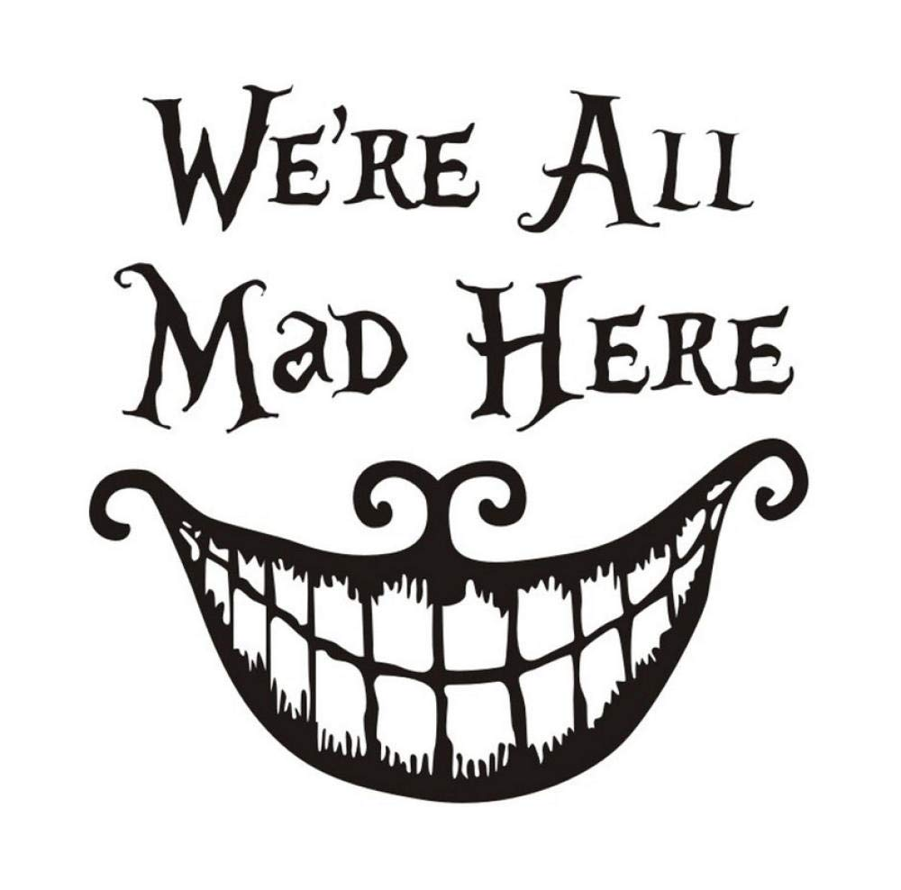 Amazon Com Wangxj We Are All Mad Here Mouth Pattern Wall Sticker