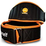 Moses Fit Weight Lifting & CrossFit Belt for Men & Women - Padded Weightlifting Gym Belt for Back & Core Support - for Heavy or Light Workout & Exercise