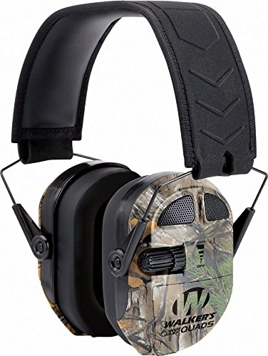 Walker's Ultimate Power Muff Quads with AFT/Electric, Mossy Oak Camo (Walkers Power Muffs Quad)