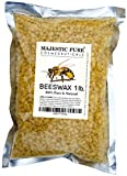 Majestic Pure Beeswax Pellets, Yellow, 100% Natural Premium Quality Organic Beeswax, Cosmetic Grade, Natural Skin Care, 1 lb
