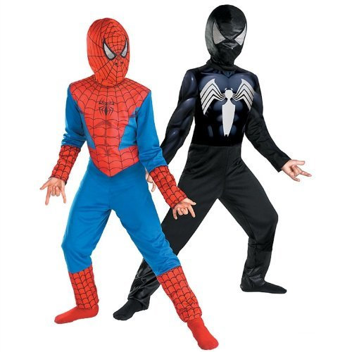 Reversible Spider-Man Red to Black Classic - coolthings.us