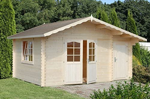 Box Casitas de madera caseta de jardín de madera d abete34 mm-m² 14,3-italfrom19: Amazon.es: Hogar