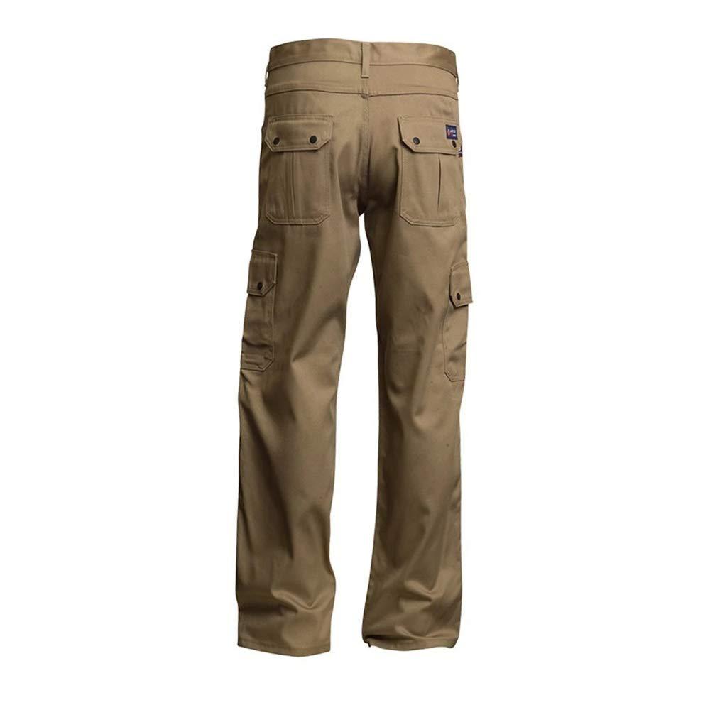 Volume Cotton Khaki 36 x 36 Capacity Lapco FR P-INCKHT9 36X36 100/% Flame-Resistant Cotton Cargo Pant