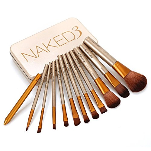 Superb good 12 pcs NAKE 3 naked kit de pinceis de pinceaux maquillage maquiagen pincel makeup brushes set kit styling tools for make up