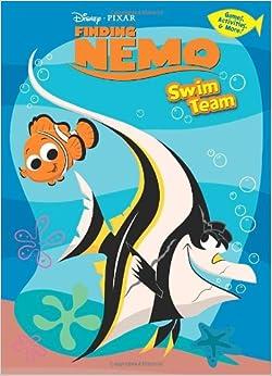 swim team finding nemo deluxe coloring book - Finding Nemo Coloring Book
