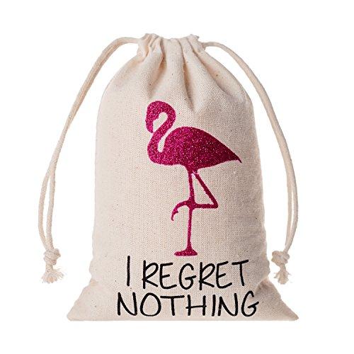 - 10pcs Wedding Party Favor Bags 4x6 inch Flamingo Bachelorette Party Bags,