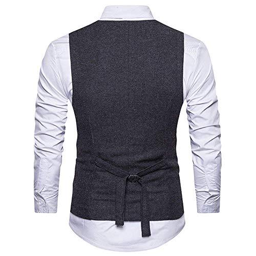 Saoye Vest Smart Magro Fashion Da Abito Fit Uomo Schwarz Gilet Suit Solenne Business Giacca Giovane Sposa Slim 77xvq4g