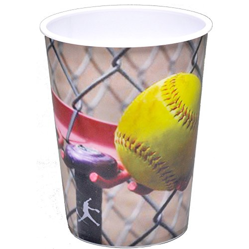 (Softball Party Cup (16 oz. Plastic Souvenir Favor Cup) Girl's Fastpitch Softball, Extra Innings Collection by)