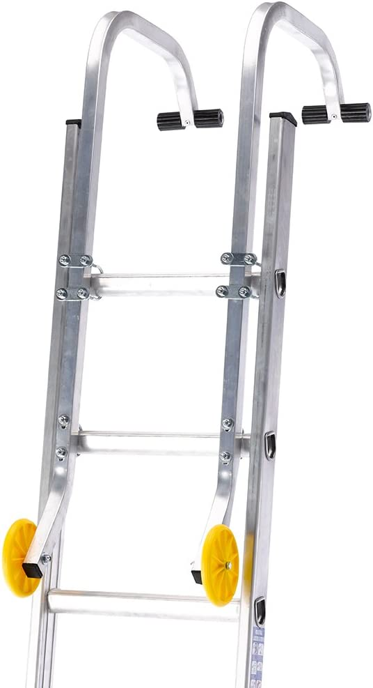 Roof Hook Kit For Extension Ladders With Wheels /& Fixings Silverline
