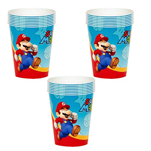 Super Mario Party Cups - 24 Guests (Mario Star Pinata Super)