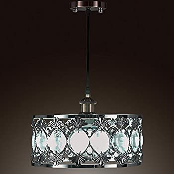 SwanHouse Ceiling Light Chandelier Silver Modern Pendant