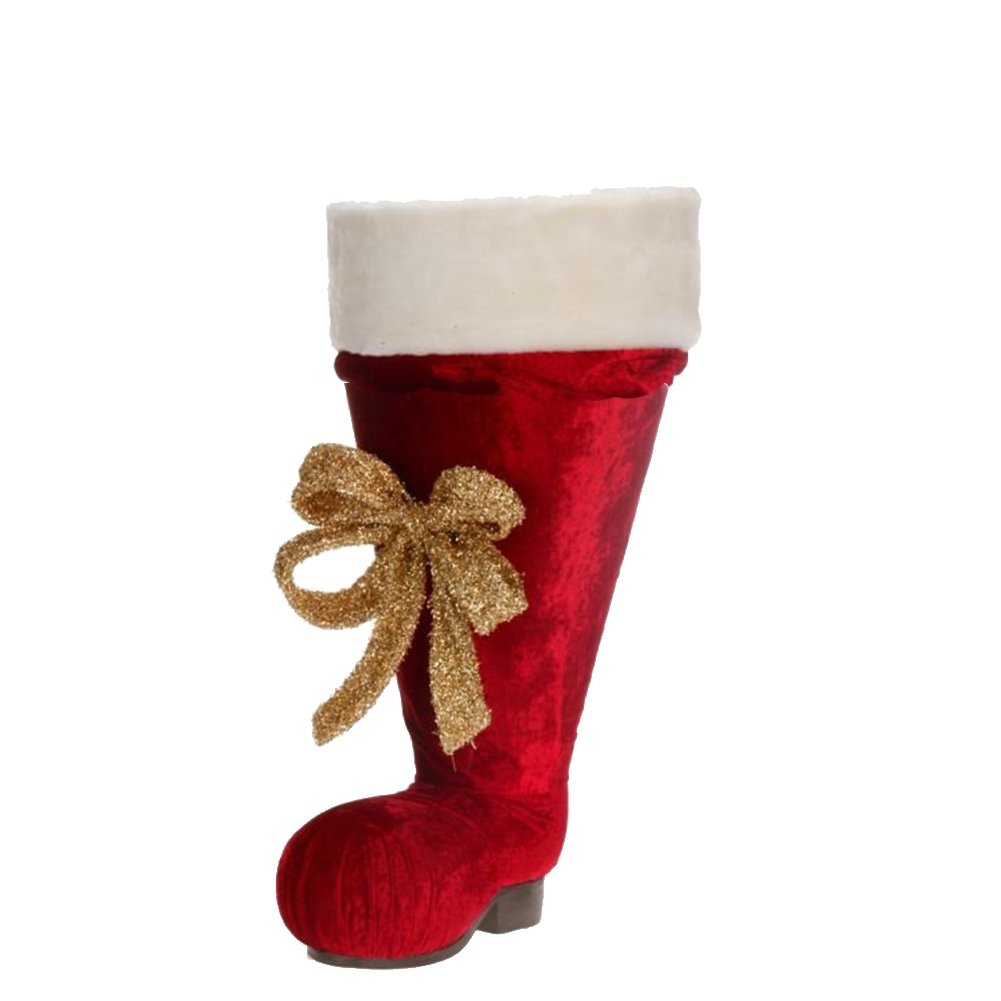 Large Santa Boot Christmas Decoration 51-28182 by Mark Roberts