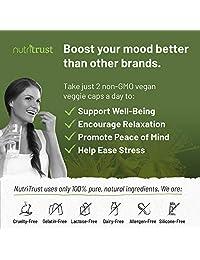 #1 Best St Johns Wort - Cápsulas de hierba de pura vegana de 120 ct 19.40 oz con extracto y polvo para potenciador de la humedad sin OMG