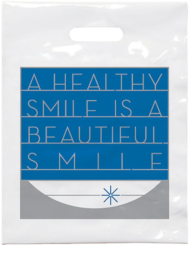 Practicon 1109618 Beautiful Smile Patient Care Bags, 7-3/4'' x 9'' (Pack of 100)