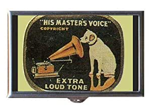 rca victor dog nipper his master 39 s voice guitar pick or pill box usa made. Black Bedroom Furniture Sets. Home Design Ideas
