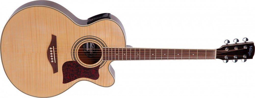 Vintage vec350 Folk Guitarra Electro acústica: Amazon.es ...