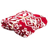 Hallmark Red and White Snowflake Throw Blanket, 50x60 Pillows & Blankets