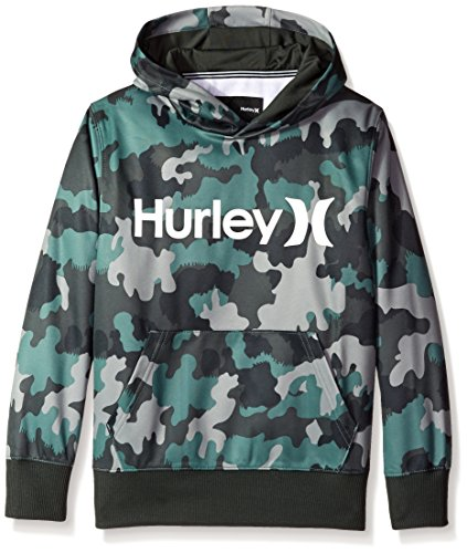Hurley Big Boys' Thermal Fit Pullover, Green Camo, Medium