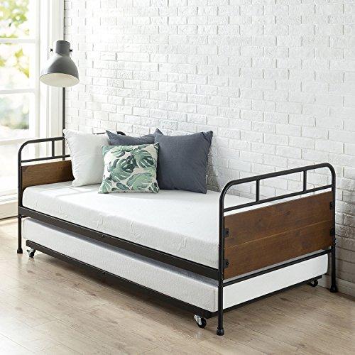 Juego de armazón de cama y marco nido Zinus Santa Fe doble / Soporte ...
