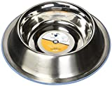 Our Pets DuraPet Premium No-Tip Stainless Steel Pet Bowls, Small