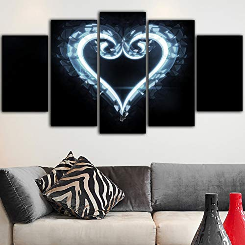 (HIOJDWA Paintings Painting Kingdom Hearts Wall Poster Salon Canvas Decoration Nordic Home Decor Art Print Drop Shipping)
