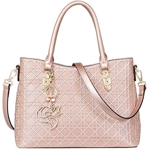 Bag New Bags Shoulder Embossed Rosegold Bags Women's Fashion Leather Handbags gRYrgq