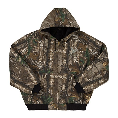 NFL Houston Texans The Camo Canvas Quilt Lined Hooded Jacket, Real Tree Camouflage, Large - Nfl Canvas