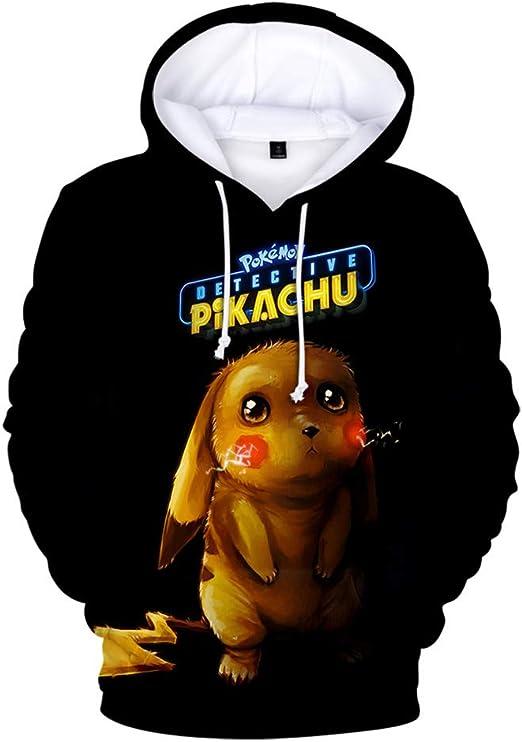 IFITBELT Anime Detective Pikachu Cosplay Hoodie Pullover Men