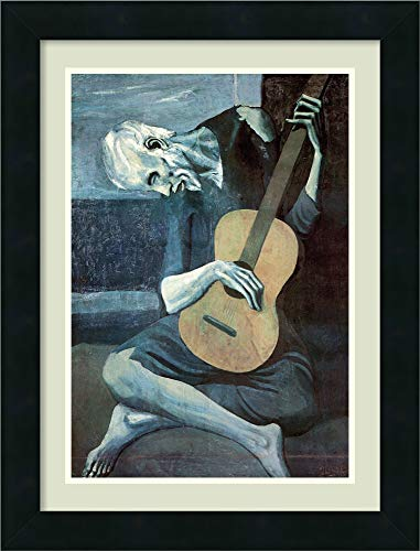 (Amanti Art Framed Home Wall Art Prints | The The Old Guitarist, 1903 by Pablo Picasso | Modern Contemporary, Casual, Classic Decor, The 57556)