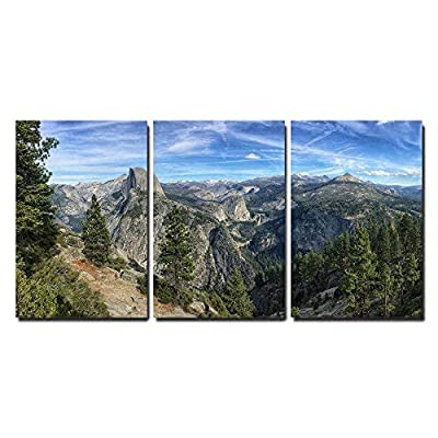 Beautiful Piece of Art, Mountain Panorama Peaks Yosemite National Park California USA x3 Panels, Created Just For You