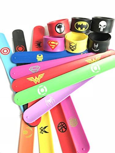 Yuuzz Superhero Slap Bracelet for Kids Boys & Girls Birthday Party Supplies Favors (18 pack) by Yuuzz (Image #4)