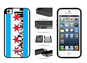 Chicago Flag Skyline 2-Piece Dual Layer Phone Case Back Cover Apple iPhone 4 4s by icecream design